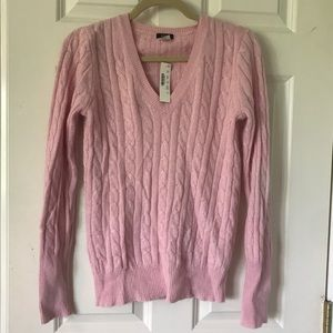 J. Crew Angora Cable Knit Sweater